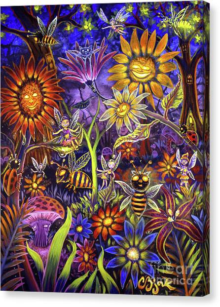 Glowing Fairy Forest Canvas Print