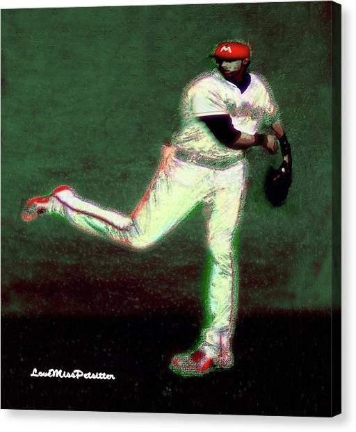 Go Yelich Baseball Art 1 Canvas Print