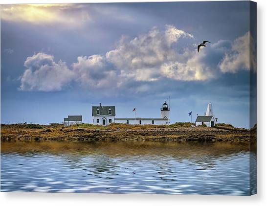Canvas Print featuring the photograph Goat Island Lighthouse by Rick Berk