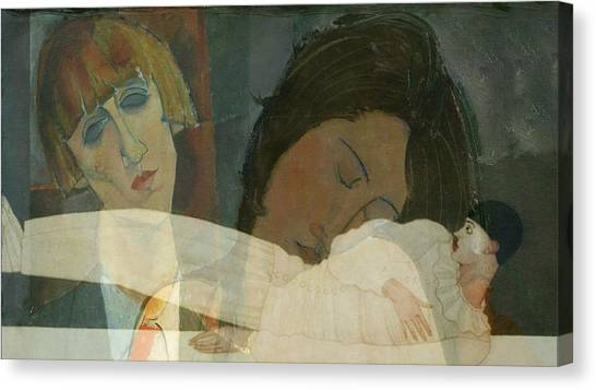 Sister Canvas Print - God Help The Mister Who Comes Between Me And My Sister by Paul Lovering