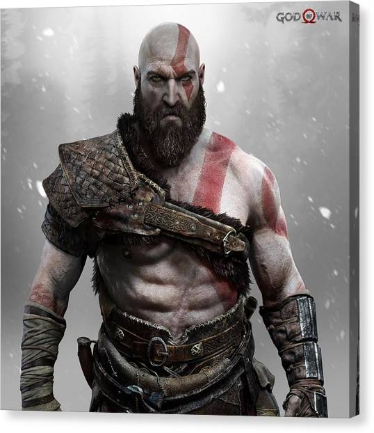 God Of War Canvas Print - god of war Kratos by Geek N Rock