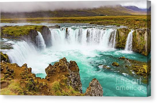 Godafoss Waterfall, Iceland Canvas Print