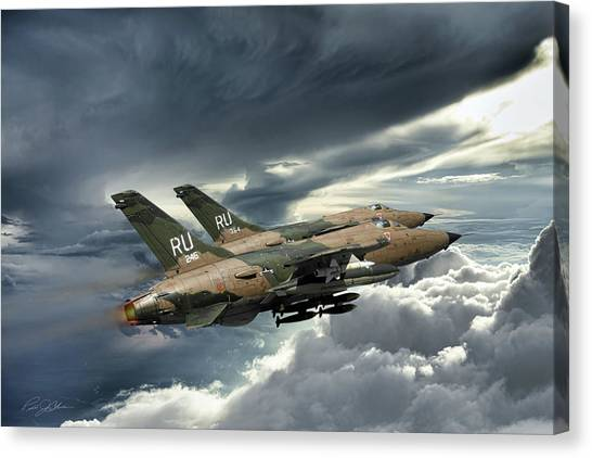 Bombers Canvas Print - Gods Of Thunder by Peter Chilelli