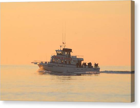 Canvas Print featuring the photograph Going Fishing On The Angler by Robert Banach