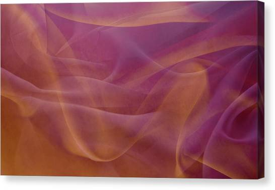 Gold And Lavendar Flowing Light Canvas Print by Jcarroll-images