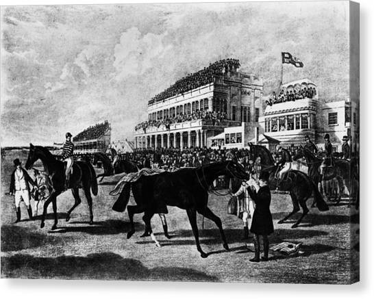 Gold Cup Day Canvas Print by Rischgitz