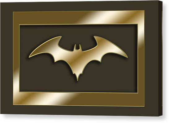 Golden Bat Canvas Print