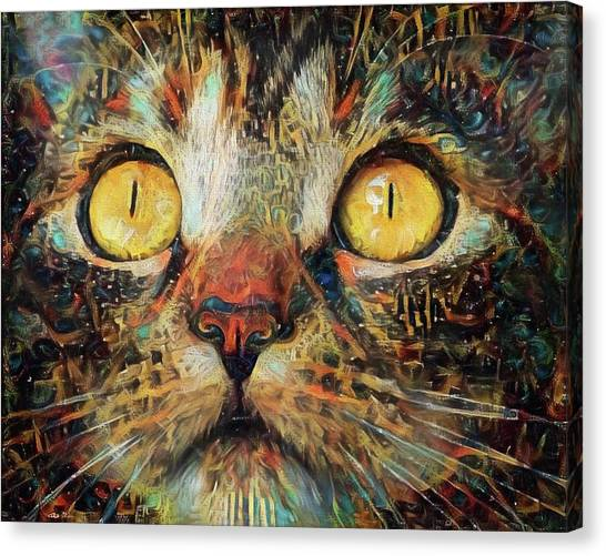 Golden Eyes Dreaming Canvas Print