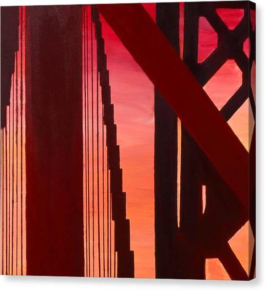 Golden Gate Art Deco Masterpiece Canvas Print