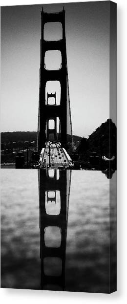 Golden Gate Reflection Canvas Print