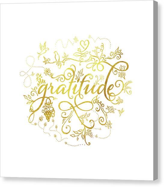 Golden Gratitude Canvas Print
