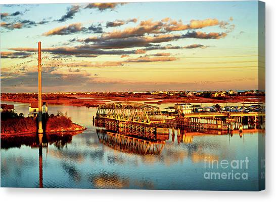 Golden Hour Bridge Canvas Print