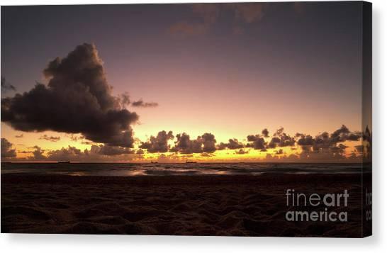 Golden Hour Off Florida Coast Canvas Print by Matt Tilghman