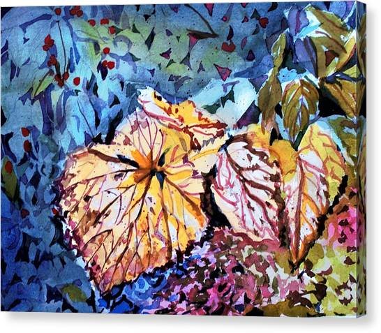 Canvas Print - Golden Leaves by Mindy Newman