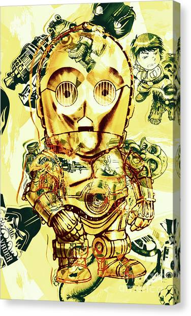 Jedi Canvas Print - Golden Movie Mech by Jorgo Photography - Wall Art Gallery