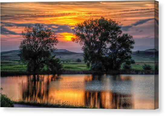 Golden Pond At 36x60 Canvas Print