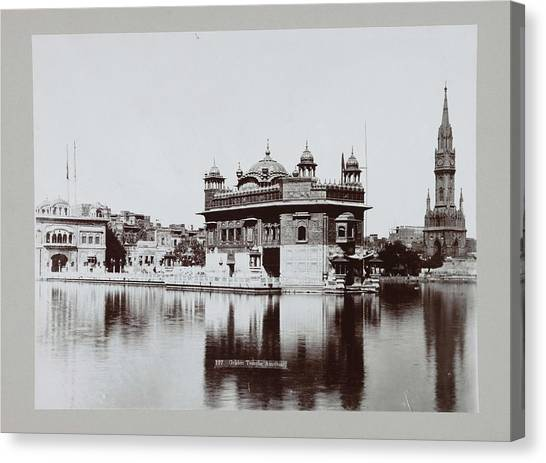 Sikh Art Canvas Print - Golden Temple In Amritsar, Anonymous, C. 1895 - C. 1915 by MotionAge Designs