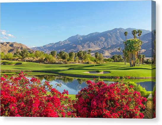Golf Course In Palm Springs, California Canvas Print