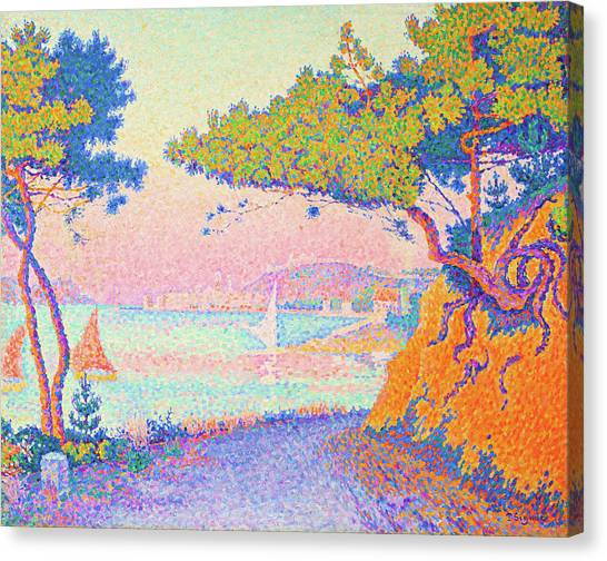 Signac Canvas Print - Golfe Juan - Digital Remastered Edition by Paul Signac
