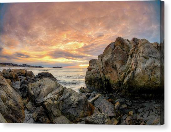 Good Harbor Rock View 1 Canvas Print