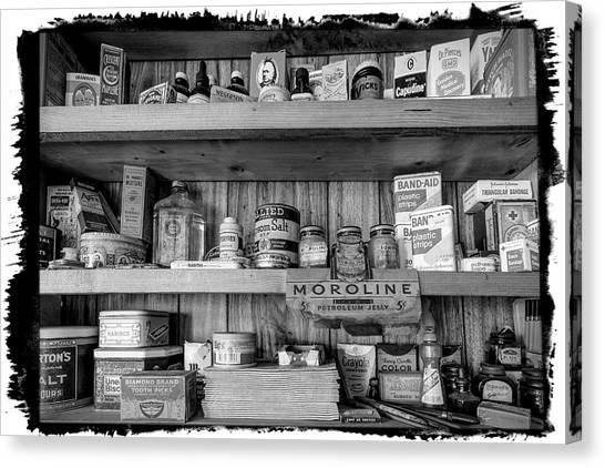 Nabisco Canvas Print - Good Old Fashioned Country In Black And White by Debra and Dave Vanderlaan