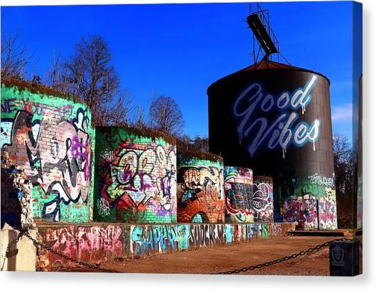 Good Vibes Asheville North Carolina Canvas Print