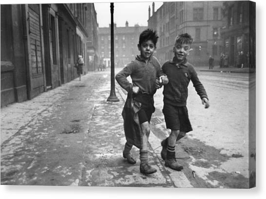 Gorbals Boys Canvas Print