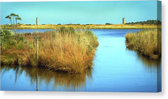 Canvas Print featuring the photograph Gordon's Pond State Park Panorama by Bill Swartwout Fine Art Photography