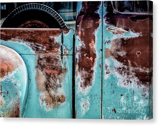Rusty Truck Canvas Print - Got A Spare by DiFigiano Photography