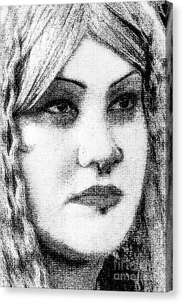 Goth Headshot Canvas Print