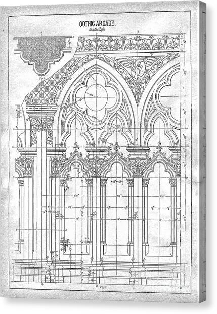 Gothic Arches Canvas Print