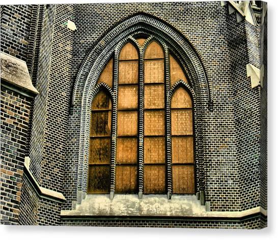 Gothic Church Window Canvas Print