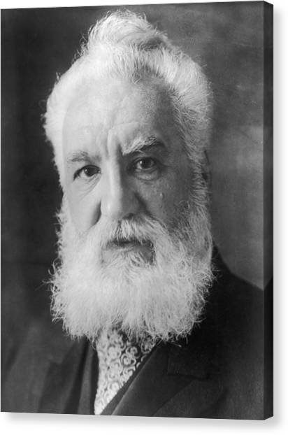 Graham Bell Canvas Print by Topical Press Agency