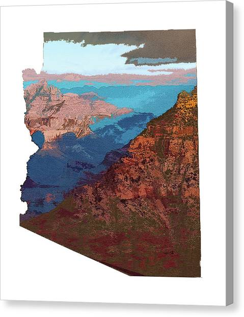 Grand Canyon In The Shape Of Arizona Canvas Print