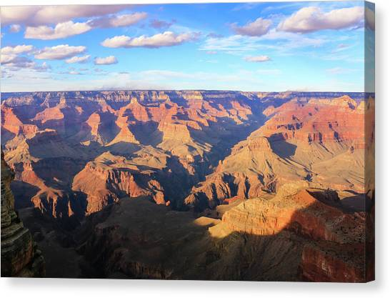 Canvas Print featuring the photograph Grand Canyon Near Sunset by Dawn Richards