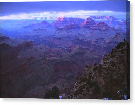 Canvas Print featuring the photograph Grand Canyon Twilight by Chance Kafka