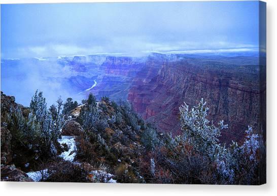 Grand Canyon Winter Scene Canvas Print