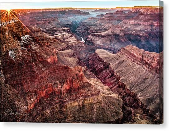 Grand Canyon Winter Sunset Canvas Print