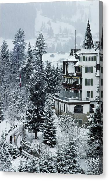 Grand Hotel Alpina Canvas Print by Slim Aarons