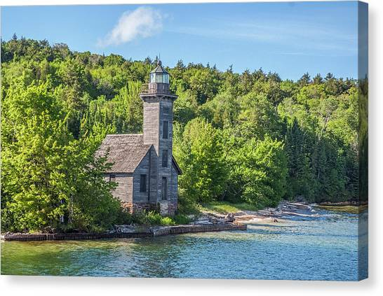 Grand Island East Channel Lighthouse, No. 2 Canvas Print