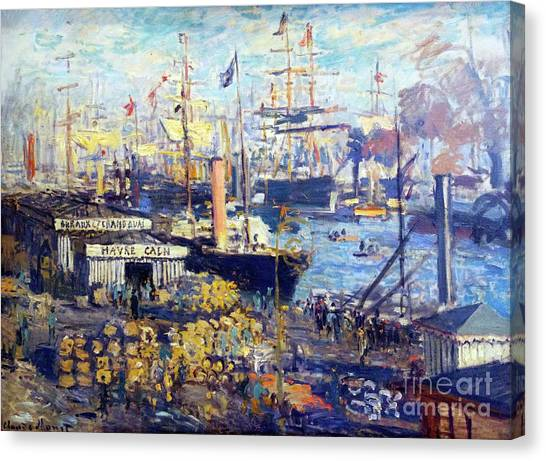 State Hermitage Canvas Print - Grand Quay At Le Havre by Peter Barritt