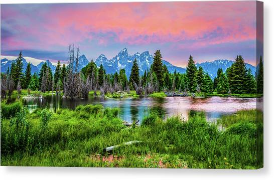 Grand Sunset Canvas Print