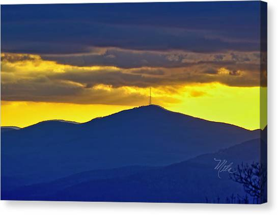 Grandmother Mountain Sunset Canvas Print