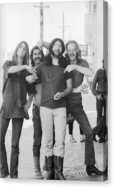 Grateful Dead Portrait Session In Sf Canvas Print