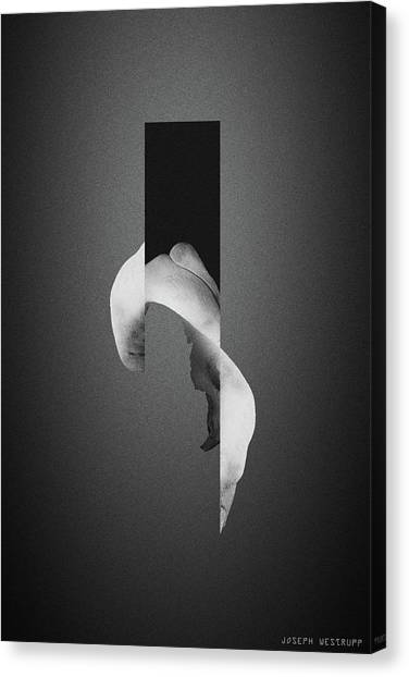 Gray Bone Flare - Surreal Abstract Elephant Bone Collage With Rectangle Canvas Print