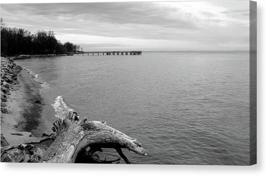 Canvas Print - Gray Day On The Bay by Charles Kraus