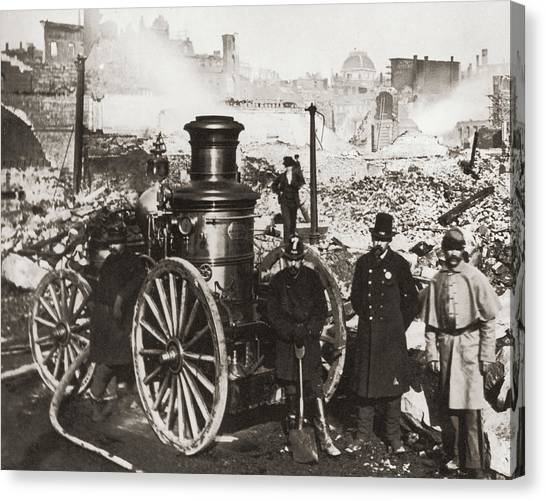 Great Boston Fire Canvas Print by Fpg