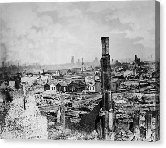 Great Chicago Fire Canvas Print by Archive Photos