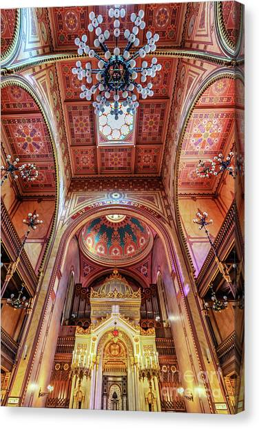 Budapest Canvas Print - Great Synagogue, Budapest Hungary by Delphimages Photo Creations