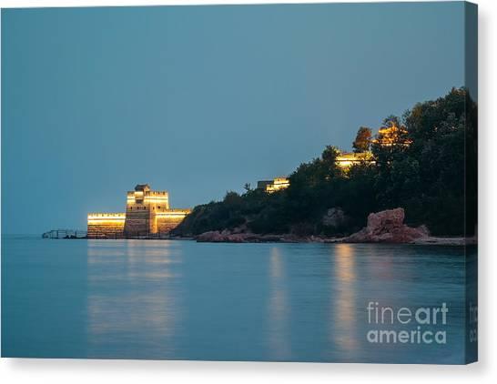Great Wall At Night Canvas Print